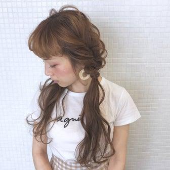 ナイトプールに大人可愛いツインテールアレンジ hair arrange & hair set