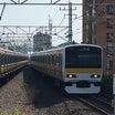 中央・総武緩行線のE231系500番台に乗りました。