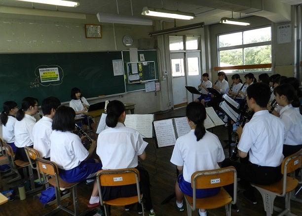 島根県立出雲高等学校吹奏楽部さん 来校 | 出雲市立第一中学校吹奏楽部2018