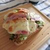 キャベツハムチーズトーストの画像