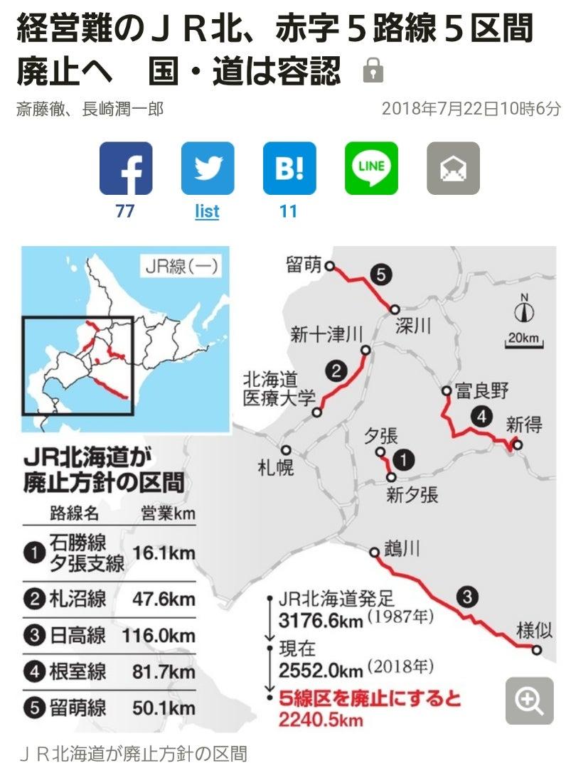 【悲報】国鉄民営化の弊害で1日0.2人が使ってる住民の足が廃止されてしまう…