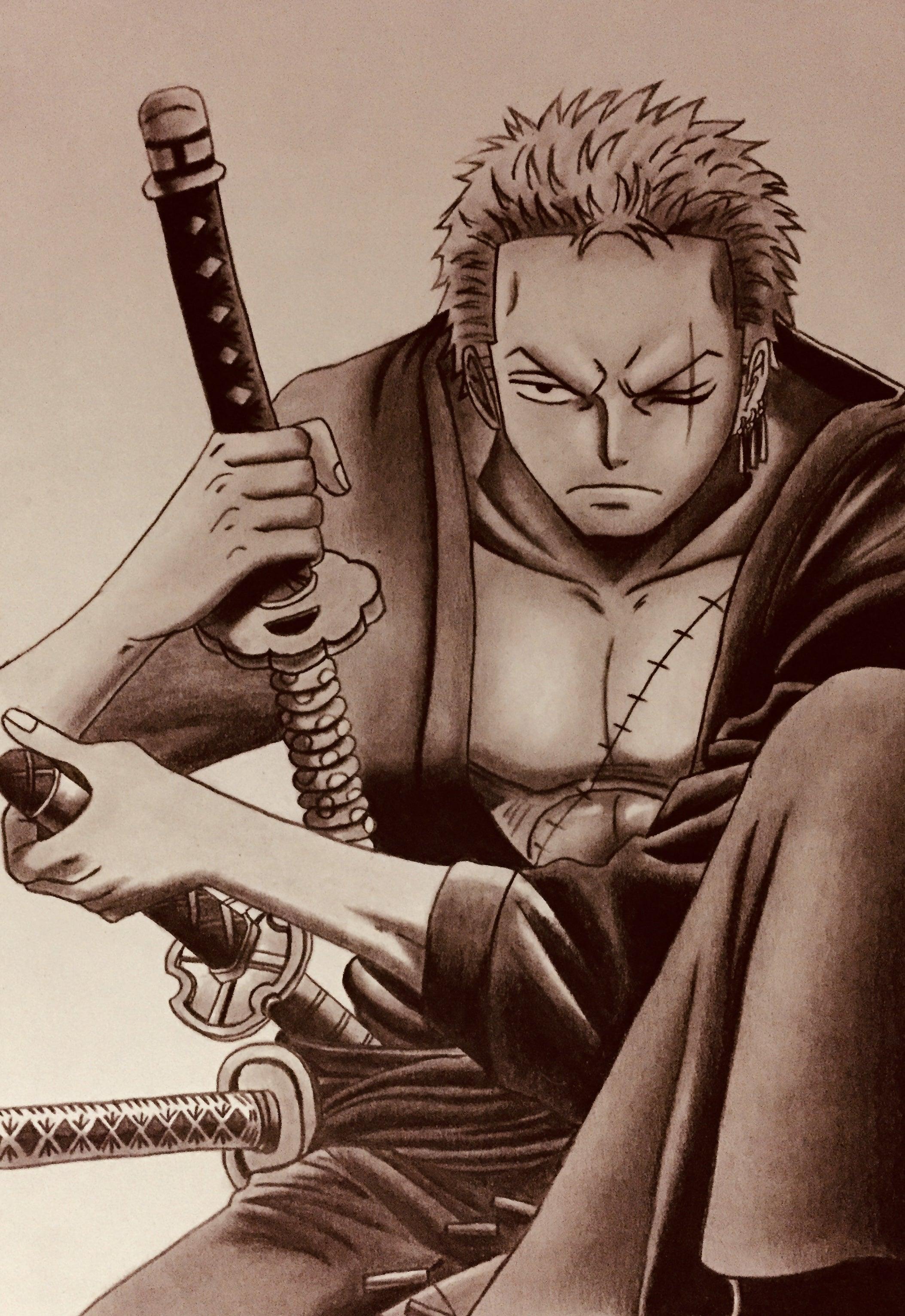 Free Printable One Piece イラスト ゾロ , Maxmato