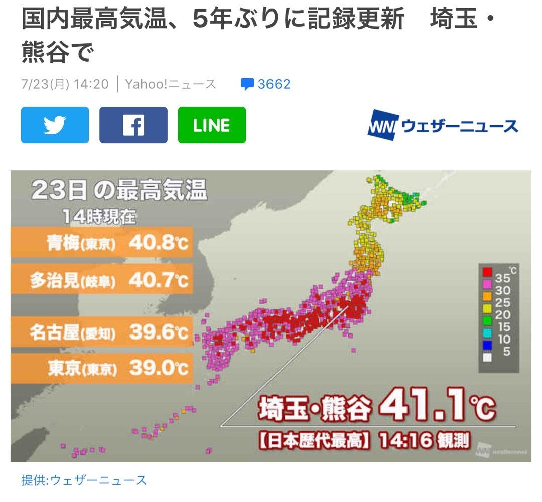 今日 の 東京 の 最高 気温