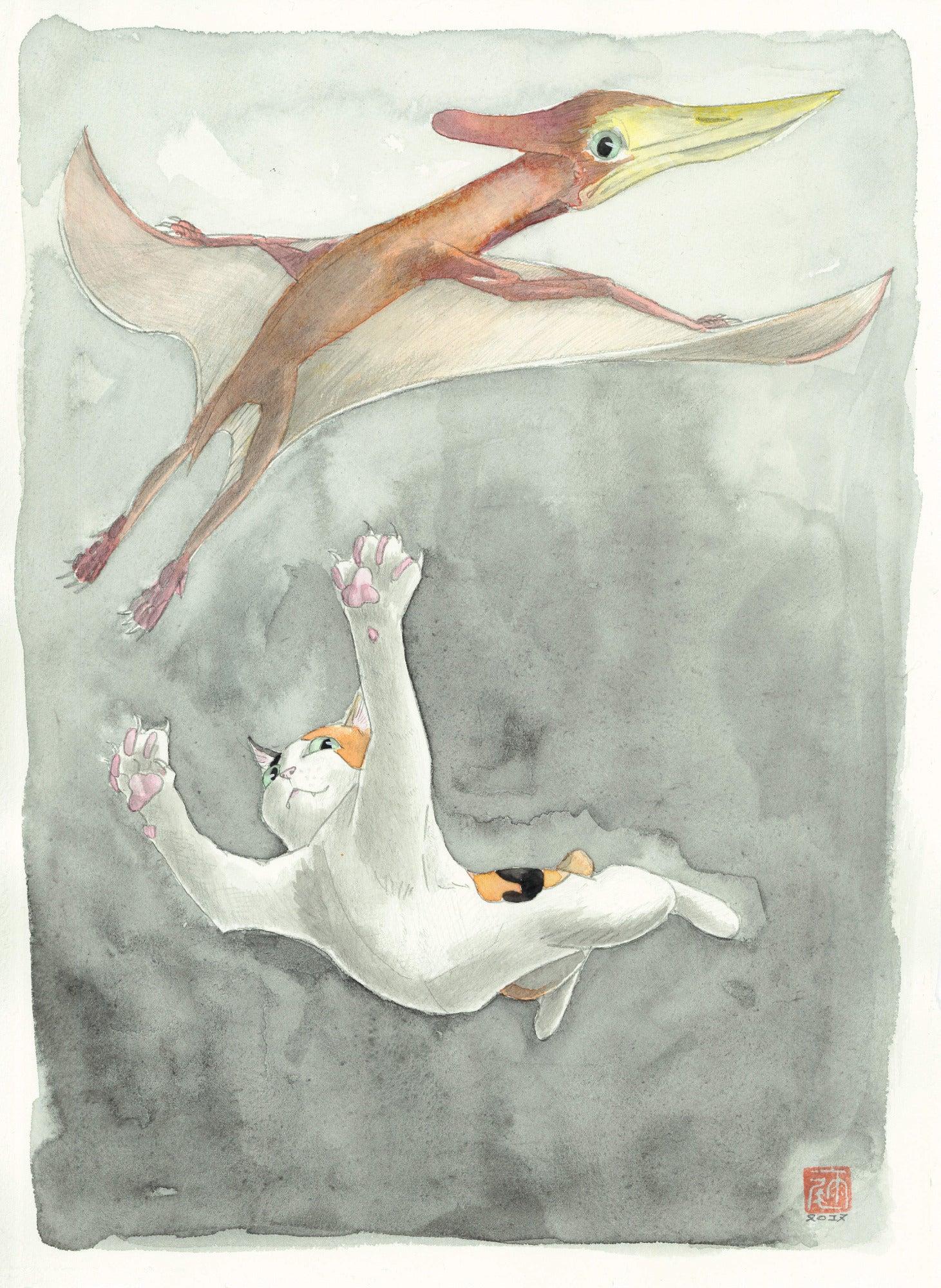エオプテラノドンと猫 | 月が味方をしてくれる。