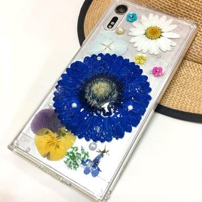 【生徒様作品】ブルーのガーベラの彩り豊かなスマホカバー@南大沢の記事に添付されている画像