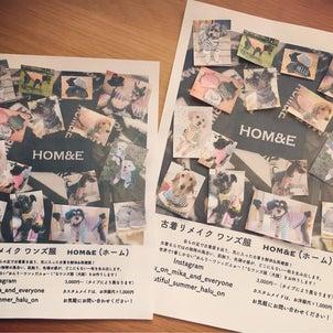"""手作り感満載な""""HOM&E""""のチラシ、公開!の画像"""