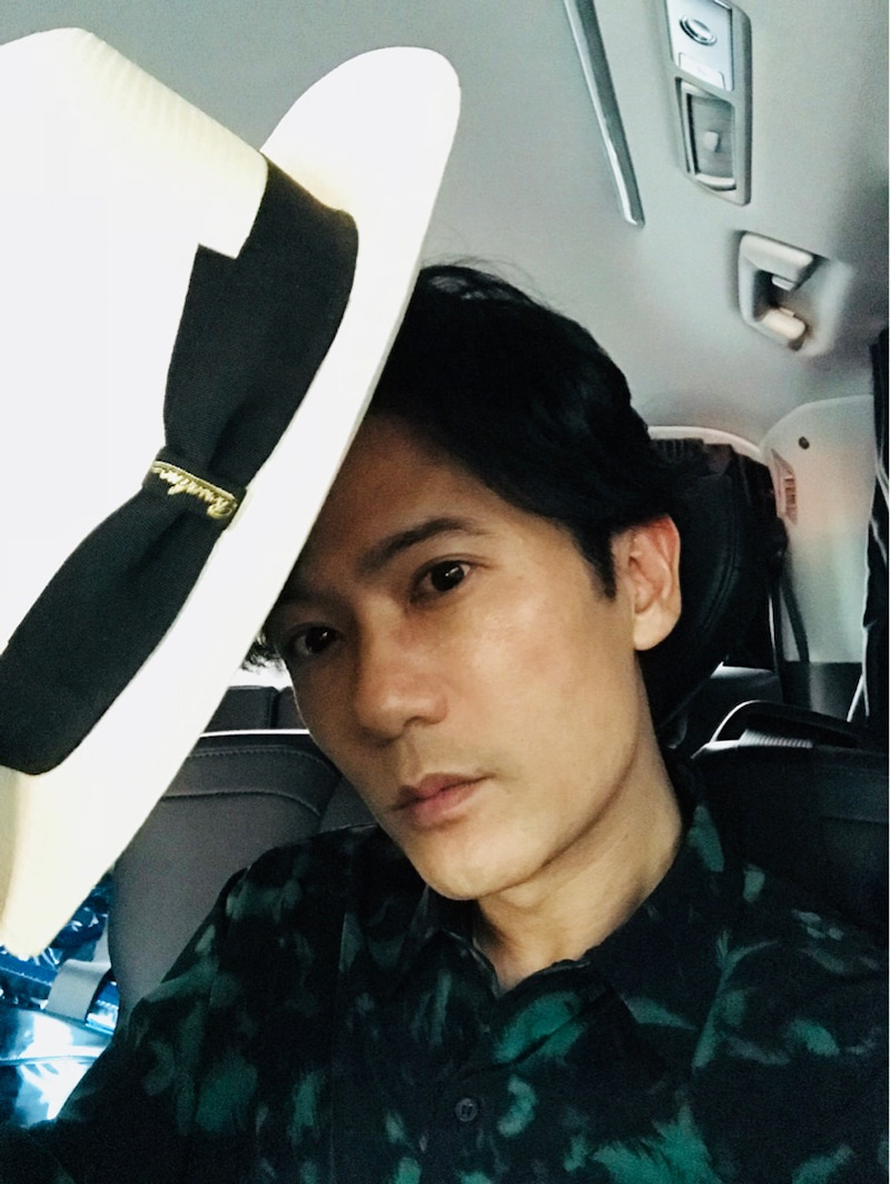 ハットかぶった稲垣吾郎