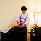 真夏の浴衣茶会〜立礼席〜の記事より