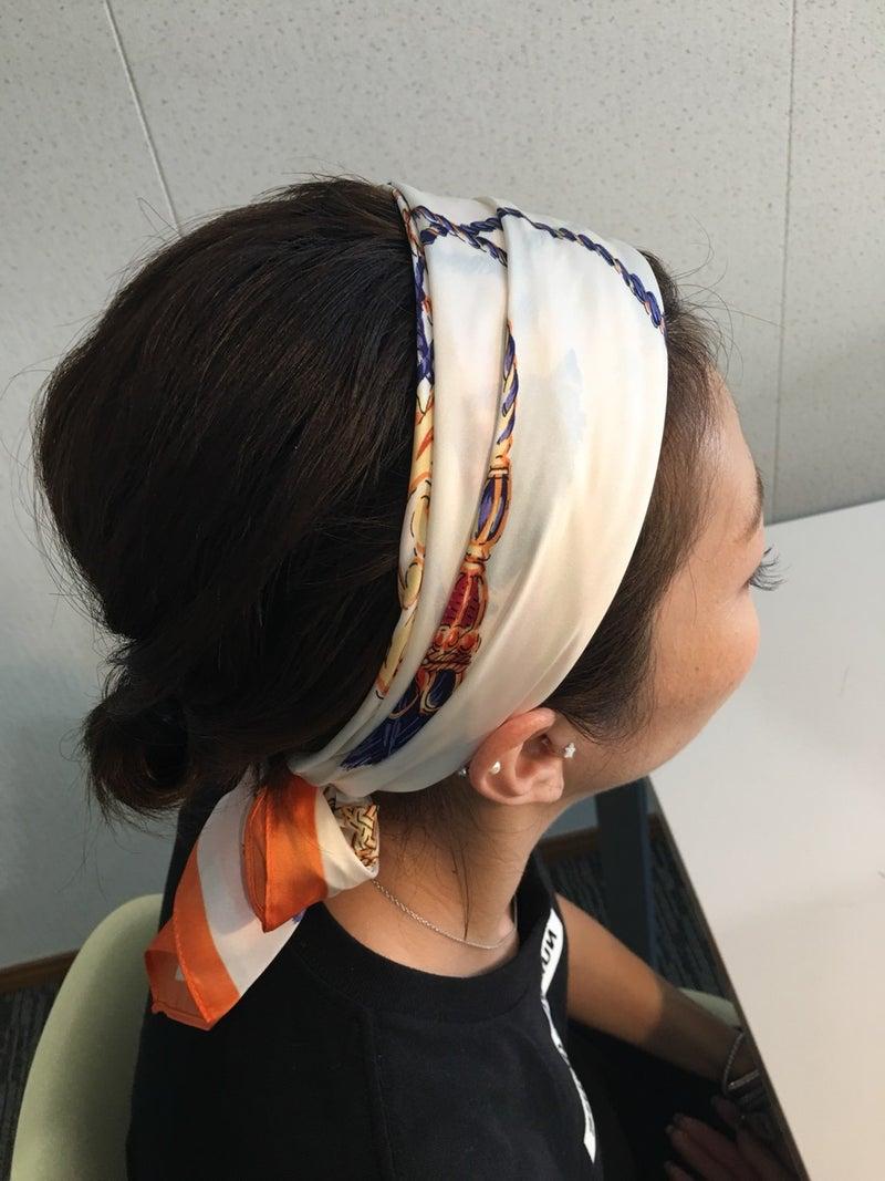 スカーフを使ったヘアアレンジ