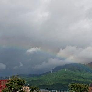 店の正面 箱根山に虹がかかりました!の画像