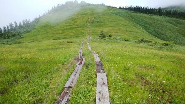 会津駒ケ岳登山道は台風の影響な...