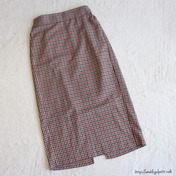 【GUパト】秋新作のタイトスカート♡チェック柄ですっきり細見え♡
