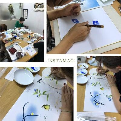 うちわ作り ~絵画教室~の記事に添付されている画像