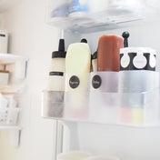 詰替えをやめた調味料 & 100均グッズで生活感を隠す冷蔵庫収納のアイデア