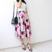 【しまむら花柄スカートで!】真夏に秋アイテムを取り入れるポイントは?