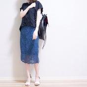 【GU】何枚もヘビロテしてる人気スカート新色を小物使いで脱定番コンサバ