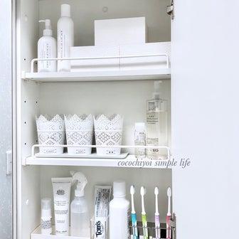 無印良品のアクリル収納♪洗面台に透明感と清潔感♡