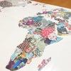 テーブルクロスは世界地図!の画像