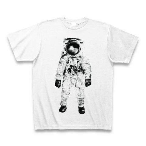 ありがちなネタだけど着やすい宇宙飛行士のイラストtシャツ リアル