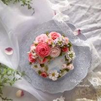 詳細◉生花風フラワーケーキの記事に添付されている画像