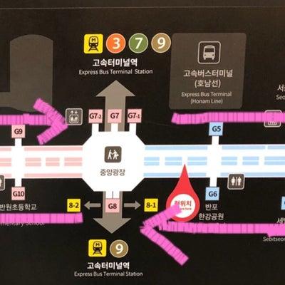 [江南]おススメ♡江南地下ショッピング&間食MAP①の記事に添付されている画像