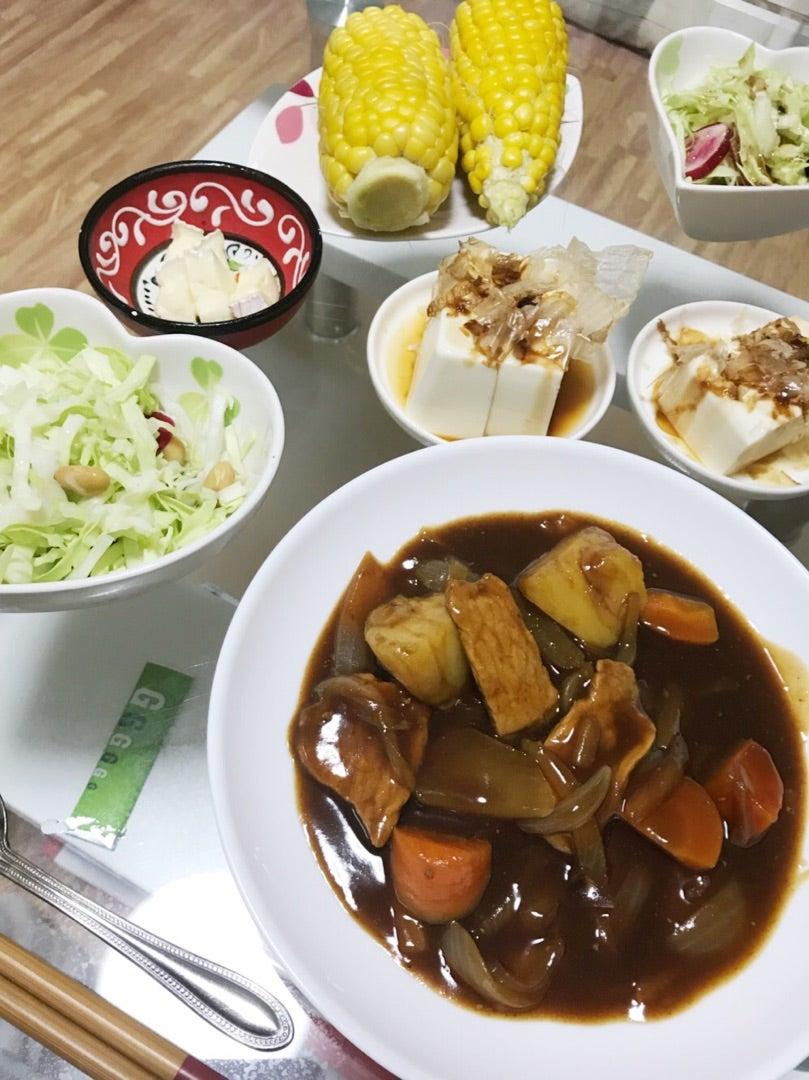 冬っぽいビーフシチュー\u0026夏っぽい副菜