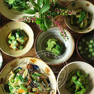 やきものの器で夏野菜中華を楽しむ。の記事に添付されている画像