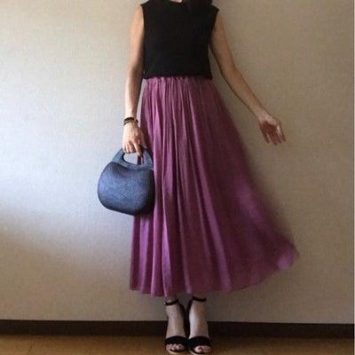 【coordinate】パープルマキシスカートで、晩夏コーデ♡の記事に添付されている画像