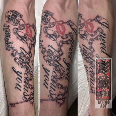 #チェーンタトゥー #レタリングチェーン #キスマーク #札幌刺青 #札幌タトゥの記事に添付されている画像