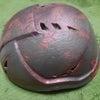 錆デザインのヘルメットの画像