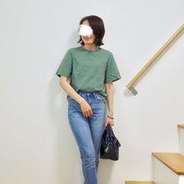 【上下ユニクロ】ハイライズシガレットジーンズ/丈とサイズ感×クロップドクルーネッの記事に添付されている画像