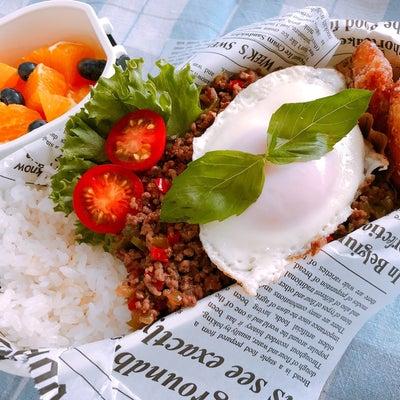 ガパオライスのお弁当の記事に添付されている画像