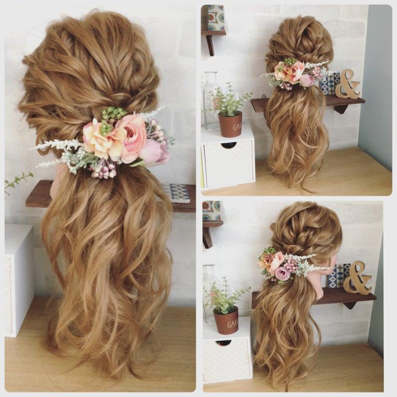 ミルフェリーチェウェディング 出張ヘアメイク 花嫁髪型 ダウンへア ルーズアップ ルーズなまとめ髪 ゆるフワアップ ローポニー