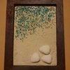 セリアの写真たてを用いたアイアンペイントと漆喰塗装の画像