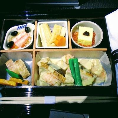 アメリカン航空ビジネスクラス、機内食(和食)の記事に添付されている画像