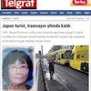 ▼唸声事故現場のストリートビュー/イスタンブールで邦人女性が路面電車に轢かれ重体の画像