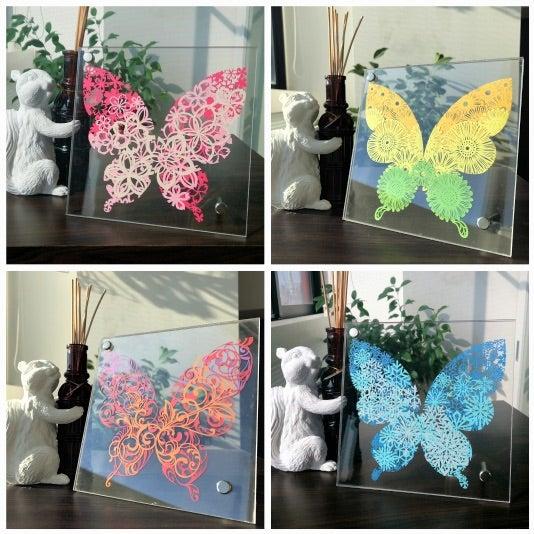 切り絵キット「四季模様の蝶シリーズ」再販のお知らせ