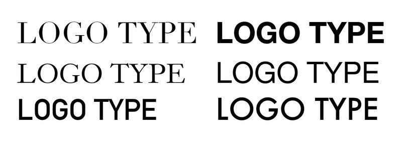 フォントでのロゴタイプ例