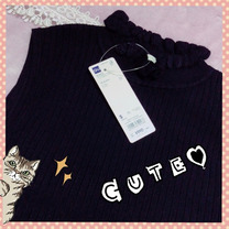 GU990円ニット♡アプワイザーコーデの記事に添付されている画像