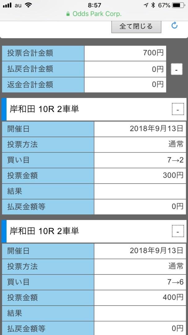 9月13日の結果!!岸和田競輪!...