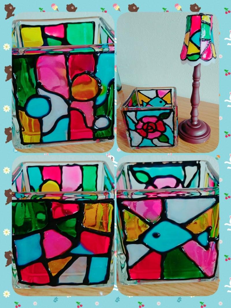 絵の具 グラス ガラス ステンド