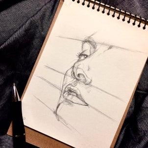 遠近法を使ってバランスの良い顔を描くの画像
