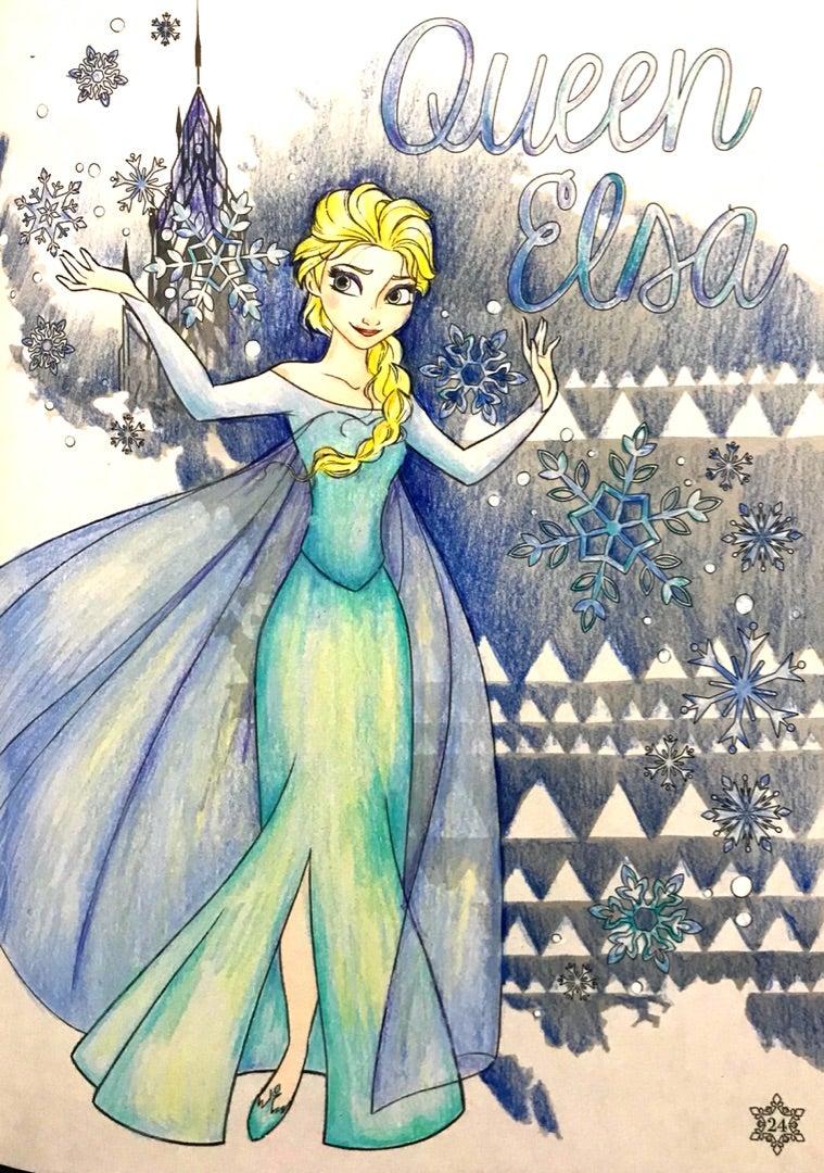アートぬりえ アナと雪の女王 楽しいコロリアージュ生活大人の塗り絵