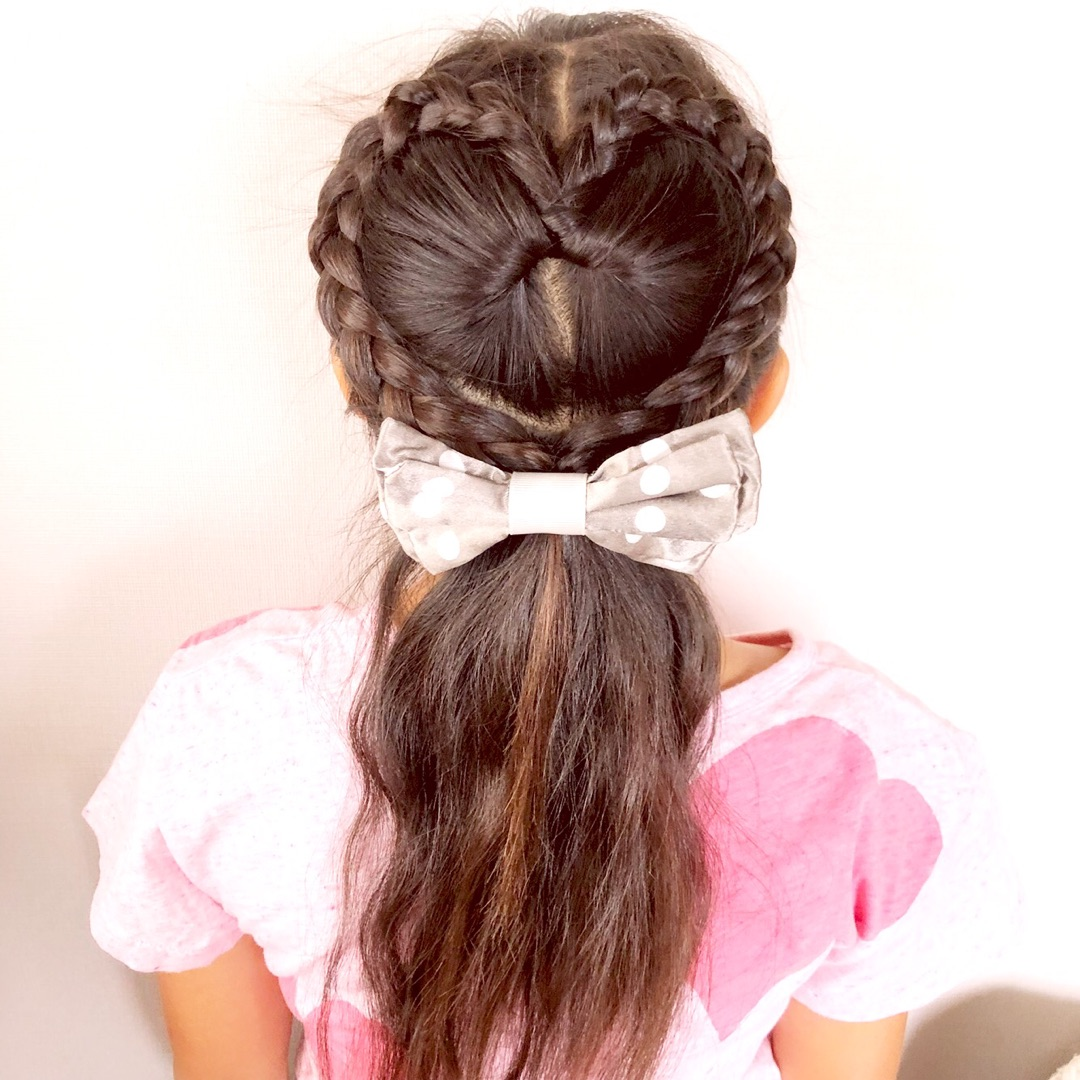 時間がないときのハートヘアアレンジ 女の子のママ必見 子供の