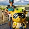 サイクリストを歓迎「チャリたぬ」の画像