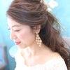 結婚式出張ヘアメイク/プレ花嫁様の撮影からハーフアップの画像