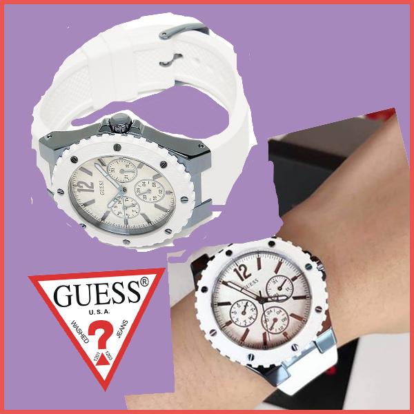 7d56b15083 凸凹フォルムのベゼルにビス装飾という. GUESS(ゲス)時計らしい特徴があるレディース時計は、 メタリックブルーとの組み合わせで爽やかな雰囲気  ルンルン