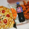おすすめザクザクチキンとピザのセット♡(クッエンクッピザ)