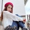白シャツ×デニム×ベレー帽  (♡˙︶˙♡)