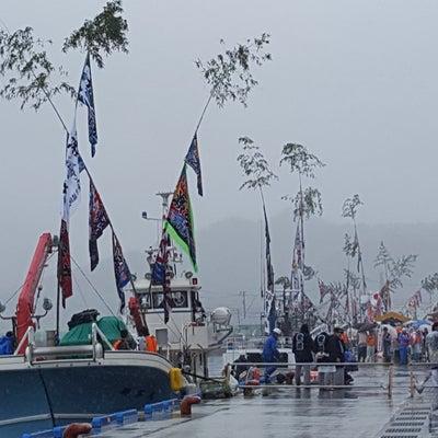 大槌稲荷神社祭典神輿渡御 曳舟まつりの記事に添付されている画像